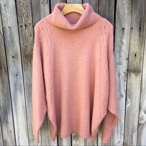 NWT Topshop Turtleneck Sweater Rose